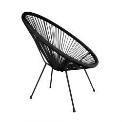 ACAPULCO Fotel czarny 93x73x85 cm