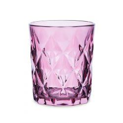 LUNNA Szklanka różowa 4 szt. 0,3 l