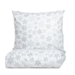 LUGN Komplet pościeli bawełnianej w śnieżynki 160x200 cm