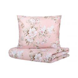 SOPHIA Komplet pościeli bawełnianej w kwiaty różowej 160x200 cm