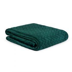 SOREN Narzuta w prostokąty zielona 200x220 cm