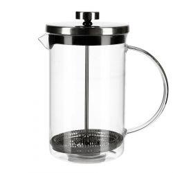 LUNGO Zaparzacz do kawy i herbaty srebrny 0,85 l
