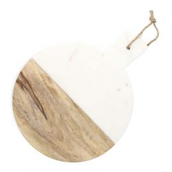 MARBLE Deska dekoracyjna biała 30 cm