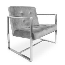 HARLEM Fotel szary 70x72x79cm