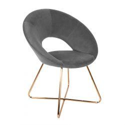 JARED Krzesło szare 71x58x84 cm