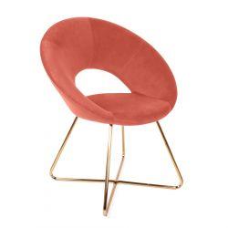 JARED Krzesło różowe 71x58x84 cm