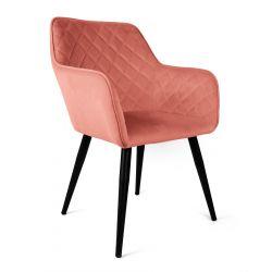 SHELTON Krzesło różowe 57x40x86 cm
