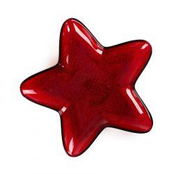 BLITS Talerz gwiazda czerwony S 30 cm
