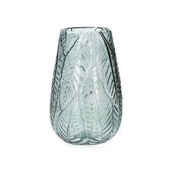 ROSAS Wazon szklany zielony 13x19 cm
