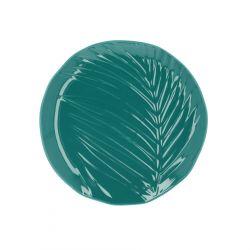 FERN Talerz zielony 21 cm