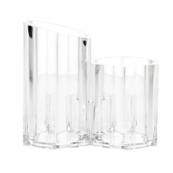 FALSA Organizer łazienkowy potrójny transparentny 13x12 cm