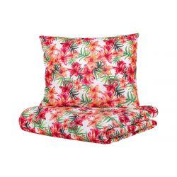 CLEVE Komplet pościeli bawełnianej w kwiaty 160x200 cm
