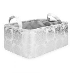 POLLY Kosz łazienkowy w srebrne wzory 35x25x16 cm