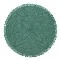 MIRI Podkładka do jadalni z frędzlami zielona 38 cm