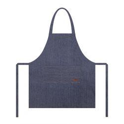 DENIM Fartuch kuchenny ze strukturą niebieski 70x80 cm