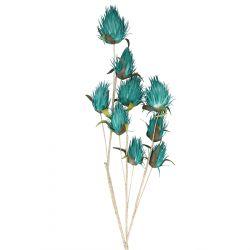 ECHMEA Kwiat sztuczny turkusowy 112 cm