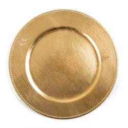 PLAST Taca ozdobna złota 33 cm