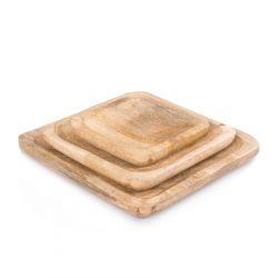 ABBOU Podstawka drewniana 20x20 cm