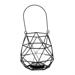NAAS Lampion geometryczny czarny 13x11x12 cm