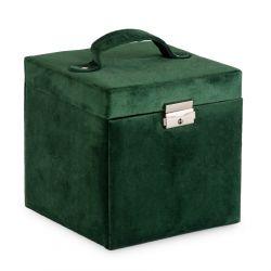 LOVA Kuferek welurowy zielony 16x16x16 cm