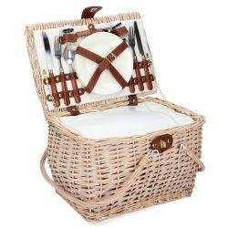 PICNIC Kosz piknikowy dla 2 osób naturalny 38x29x25 cm