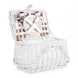 PICNIC Kosz piknikowy dla 2 osób biały 38x29x25 cm