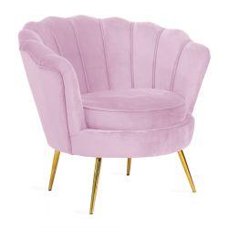 SHELLY Fotel różowy 82x75x76 cm