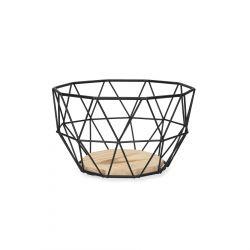 EYJA Koszyk okrągły czarny S 20x11 cm