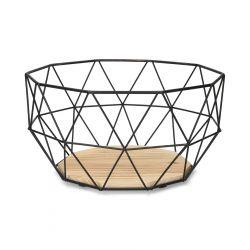 EYJA Koszyk okrągły czarny M 27x14 cm