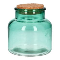 VIGGO Słoik szklany ciemnozielony 0,8 l