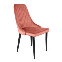 LOUIS Krzesło koralowe 44x59x88 cm