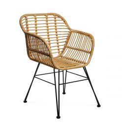 JARDIN Krzesło plecione naturalne 56x58x82 cm