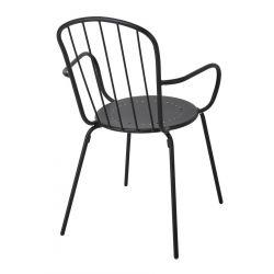 FJONE Krzesło ogrodowe czarne 54x60x85 cm