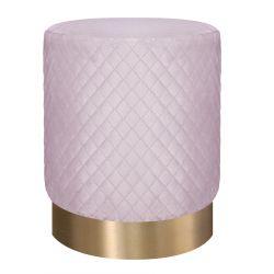 ISA Puf pikowany różowo - złoty 36x43 cm