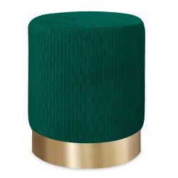 CLODIA Puf zielono - złoty 36x42 cm