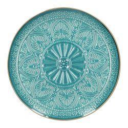 INDIE Talerz obiadowy turkusowy 27 cm