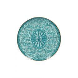 INDIE Talerz deserowy turkusowy 21 cm
