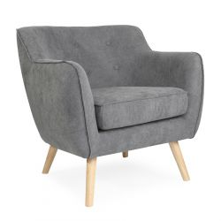 STOKKE NATURAL Fotel tapicerowany szary 77x77x78 cm