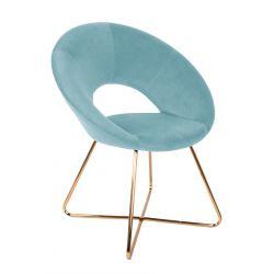 JARED Krzesło turkusowe 73x47x84 cm