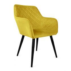 SHELTON Krzesło oliwkowe 57x40x86 cm
