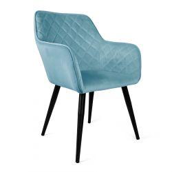 SHELTON Krzesło turkusowe 57x40x86 cm
