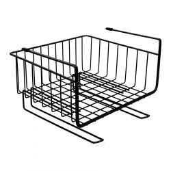 DUNCAN Koszyk półkowy z uchwytami czarny 29x25,5 cm