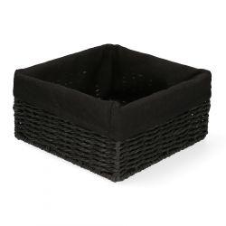 TUOMO Koszyk kwadratowy czarny 20x20 cm