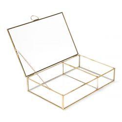 GRAZIA Szkatułka złota 23x15x5 cm