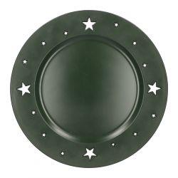 PLAST Taca z gwiazdkami zielona 33 cm