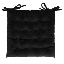 ROOSVELT Poduszka na krzesło z wiązaniem czarna 38x38 cm