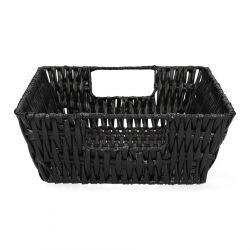 HAINO Koszyk prostokątny czarny 27x21 cm