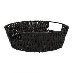 HAINO Koszyk okrągły czarny 25 cm