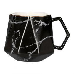 ARBRE Kubek czarny marmur 0,43l