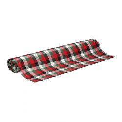 PAIMO Bieżnik w kratę czerwony 40x160 cm